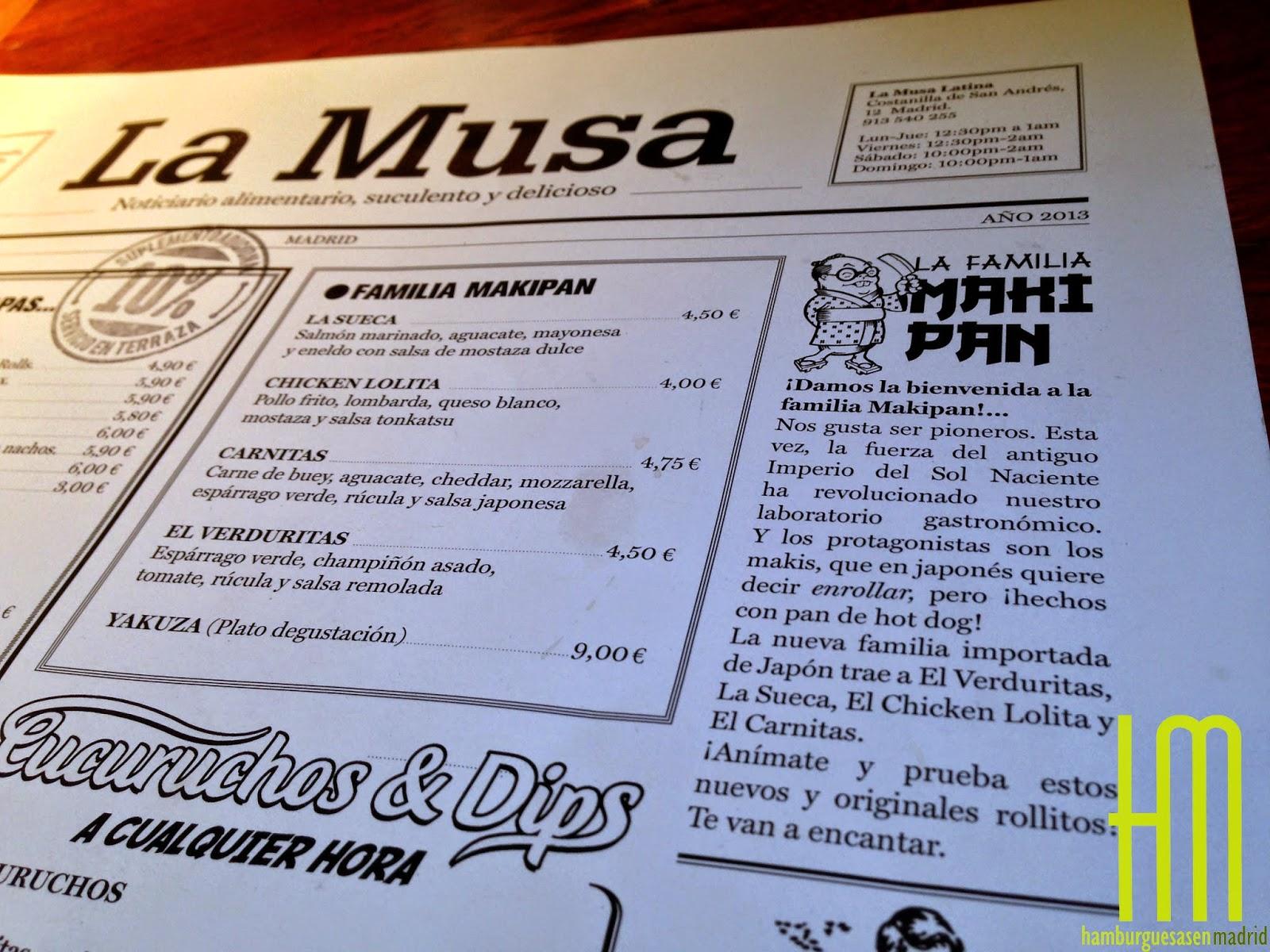 La musa latina de makipanes y mini hambuguesas - La musa latina madrid ...